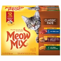 Meow Mix Classic Pate Wet Cat Food Variety Pack