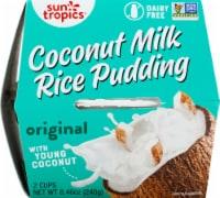 Sun Tropics  Coconut Gluten & Dairy Free  Coconut Rice Pudding Cups2 Count