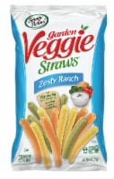 Sensible Portions Garden Veggie Straws Zesty Ranch Vegetable and Potato Snacks