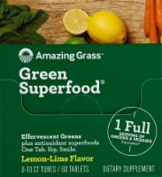 Amazing Grass Green Superfood Lemon-Lime Effervescent Greens Tablets