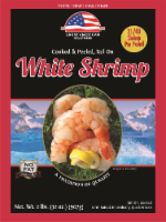 Great American Seafood Cooked & Peeled Tail On White Shrimp