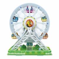 3D Puzzles CHA127 Ferris Wheel 3D Puzzle LED Motorized, 77 Pieces