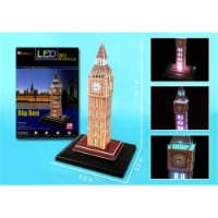 3D Puzzles CFL501H Big Ben 3D Puzzle with Base and Lights - 28 Pieces