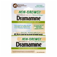 Dramamine Non-Drowsy Natural Ginger Motion Sickness Relief Capsules
