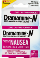 Dramamine Long Lasting Nausea Relief Tablets 10 Count