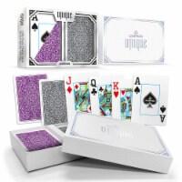 Copag Unique Purple/Grey, Poker Size, Jumbo Index - 1 each