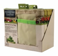 Architec Homegrown Gourmet 24 in. W x 24 in. L Tan/Green Cotton Harvest Grow Bag-Herbs and - Count of: 1