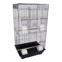 """6824 3/8"""" Bar Spacing Tall SquareTop Small Bird Cage - 18""""x14"""" In Black"""