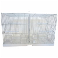 YML 2414WHT 0.37 in. Canary Finch Breeding Cage, White - Small