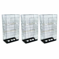 Lot of 3 XLarge Breeding Cages - Black