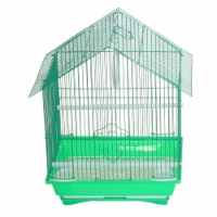 """YML A1314MGRN House Top Style Small Parakeet Cage, 13.3"""" x 10.8"""" x 17.8"""""""