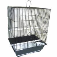"""YML A1124MBLK Flat Top Small Parakeet Cage, 11"""" x 8.5"""" x 14"""" - 1"""