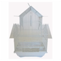 YML A1144WHT Pagoda Top Cage, Small