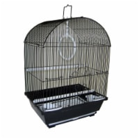YML A1304BLK Round Top Style Small Parakeet Cage, 11 x 9 x 16""