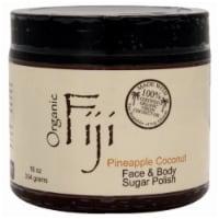 Organic Fiji Pineapple Coconut Face & Body Sugar Polish - 20 oz