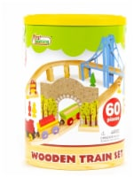 First Learning Wooden Train Set - 60 pc