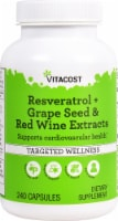 Vitacost Resveratrol + Grape Seed & Red Wine Extract Capsules - 240 ct