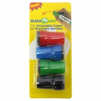 Large Barrel Attachable Eraser Caps for Dry Erase Markers, Pack of 4 - 1