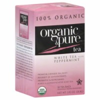 100 Organic & Pure, Tea White Pprmnt Org, 18 Bg, (Pack Of 6) - 1