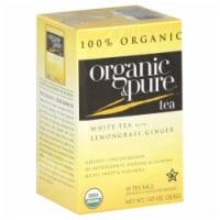 100 Organic & Pure, Tea Whte Lmngrss Gngr Org, 18 Bg, (Pack Of 6) - 1
