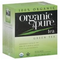 100 Organic & Pure, Tea Green Org, 40 Bg, (Pack Of 6) - 1
