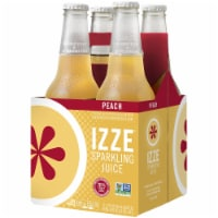 IZZE Sparkling Juice Peach Flavored Juice Drink 4 Count