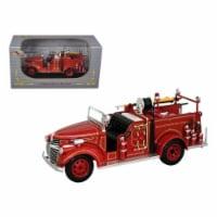 Signature Models 32348r 1941 GMC Fire Engine Truck Red 1-32 Diecast Model Car - 1