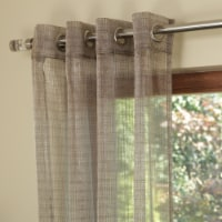 "Koby Jacquard Sheer Window Curtain Panel Light Brown 56""x95"" - 1"