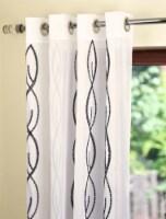 "Zina Sheer Window Curtain Panel Black 54""x95"" - 1"