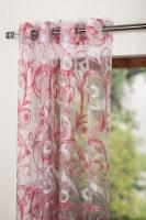 "Hollandia Sheer Window Curtain Panel Red 54""x95"" - 1"
