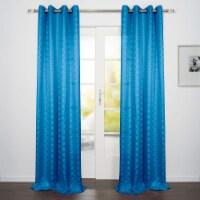 "Como Jacquard Design Window Curtain Panel Blue 54""x95"" - 1"