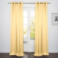 "Como Jacquard Design Window Curtain Panel Limoncello 54""x95"" - 1"