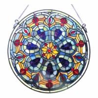 "CH1P688PV20-GPN CHLOE Lighting Tiffany-glass Victorian Window Panel 20"""