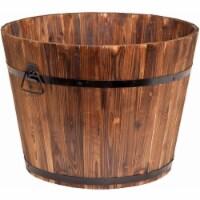 Devault Enterprises DEVBP213.01 Whisky Barrel Planter - Large 23  X 23  X 17