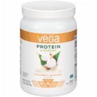 Vega Protein & Greens Plant-Based Coconut Almond Flavored Drink Mix Powder