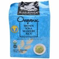 Khazana Organic Brown Sona Masoori Rice - 10 Lb (4.5 Kg) - 1 unit