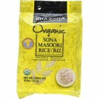 Khazana Organic Sona Masoori Rice - 10 Lb (4.5 Kg) - 1 unit