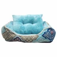 Medina Cuddler Pet Bed by Pet Maison for Unisex - 24 x 36 x 12 Inch Pet Bed