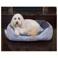 French Country Cuddler Pet Bed by Pet Maison for Unisex - 24 x 36 x 12 Inch Pet Bed