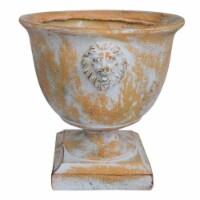 Noble House Simba Outdoor Roman Chalice Garden Urn Planter in Antique Copper - 1