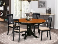 AVAT5-BLK-C 5 Pc Dining room set with 4 cusion chairs - 1