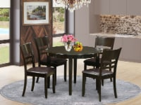 BOLY5-CAP-LC 5 PC small Table set--Dining nook and 4 Chairs - 1