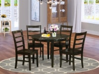 BOPF5-CAP-W 5 Pc Kitchen Table set-Dining Table and 4 dinette Chairs - 1