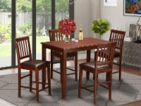 BUVN5-MAH-LC 5 Pc counter height Dining set-high Table and 4 Kitchen Chairs. - 1
