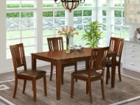 CADU5-MAH-LC 5 Pc Dining room set for 4 set-Dining Table and 4 Dining Chairs - 1