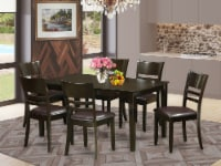 CALY7-CAP-LC 7 Pc formal Dining room set-Dinette Table and 6 Dining Chairs - 1