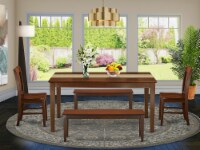 CANO5C-MAH-W 5 PC Kitchen Table set-Dinette Table and 4 Kitchen Chairs - 1