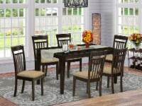CAP7S-CAP-C 7 Pc formal Dining room set -Table and 6 Dining Chairs - 1