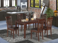CAP7S-MAH-LC 7 PC Dining room set- Dinette Table and 6 Dining Chairs - 1