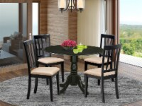 DLAN5-BLK-C 5 PC Table set - Dining Table and 4 Kitchen Dining Chairs - 1